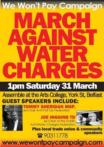 Campagne en mars contre l'impôt sur l'eau
