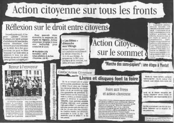 Semaine Europe le Mercredi 4 Avril 2007 à 20h30 à la MJC d'Yvetot avec Action Citoyenne