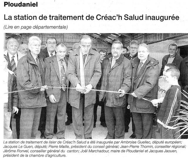 Ambroise Guellec inaugure une station de traitement à Lisier