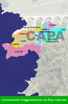 Cité impériale oblige, la gestion des services de l'eau de la ville d'Ajaccio a eu droit à des doubles rations « d'honneurs
