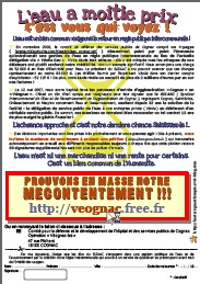 Sprint final pour les militants pro-régie de Cognac !