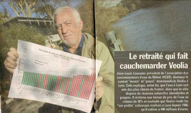 La lutte exemplaire des usagers de l'eau porte ses fruits à Lyon