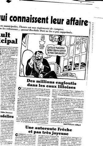 Des millions engloutis dans les eaux lilloises... article du Canard Enchainé du 31 10 07