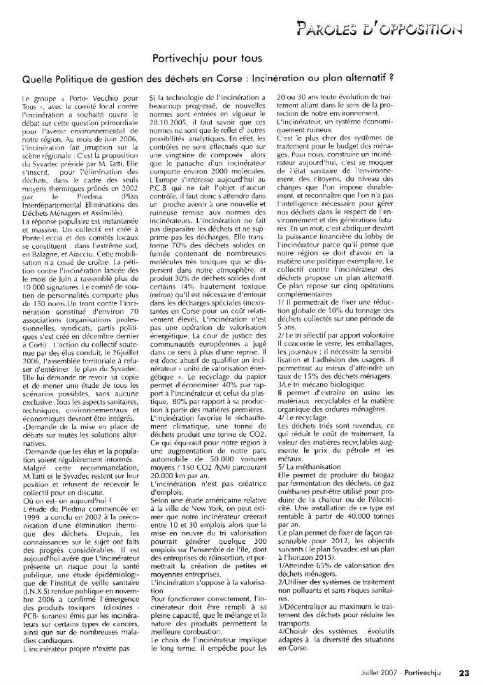 Quelle politique de gestion des déchets en Corse : Incinérateur ou plan alternatif ?