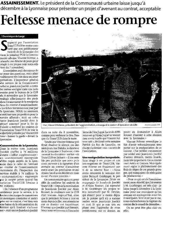 Transcub, ou le cauchemar de SUEZ  à Bordeaux