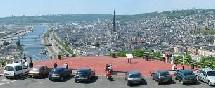 Vue de l'agglomération de Rouen
