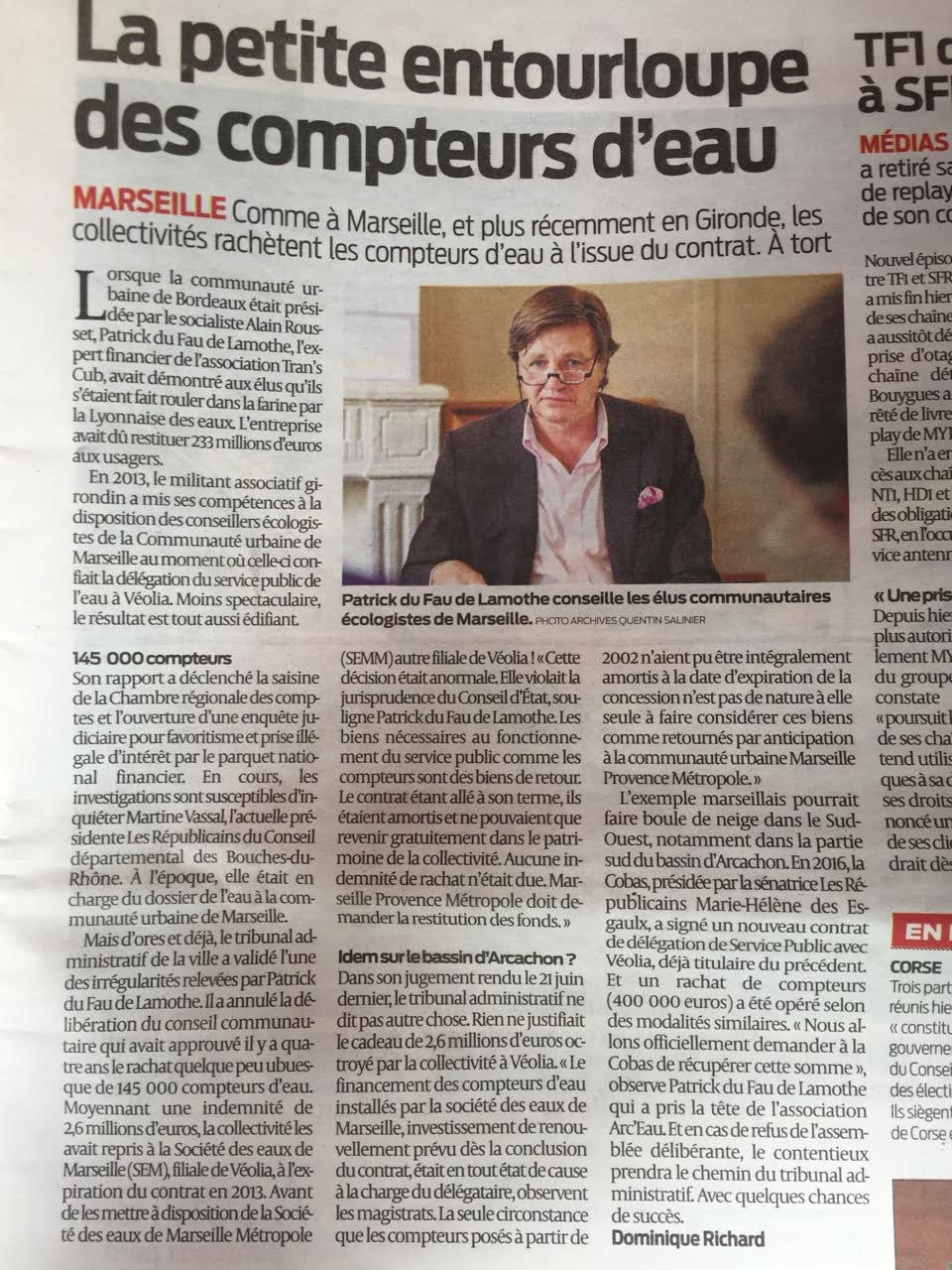 Marseille, en Gironde et peut-être à Paris Saclay : Le petite entourloupe des compteurs d'eau