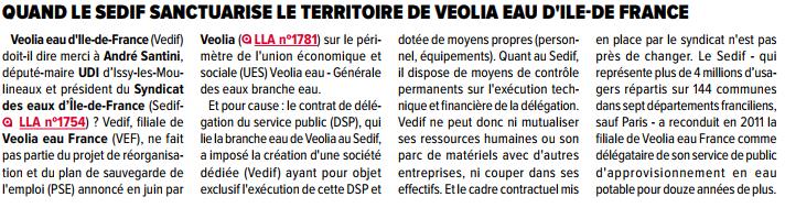Lettre A du 31 août : Veolia Eau d'Ile de France