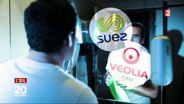 L'oeil du 20h du journal de France 2 du 6 novembre 2017 à Wissous : Suez, Veolia : des fournisseurs d'eau … pas très clairs