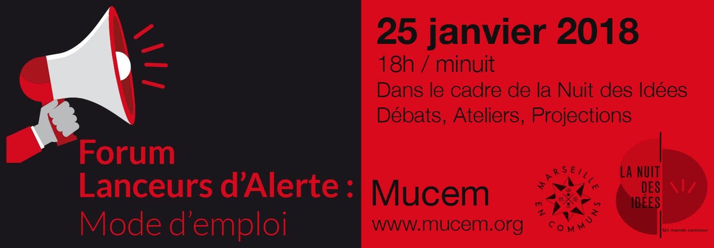 Forum des lanceurs d'alerte 25 janvier 2018 à Marseille