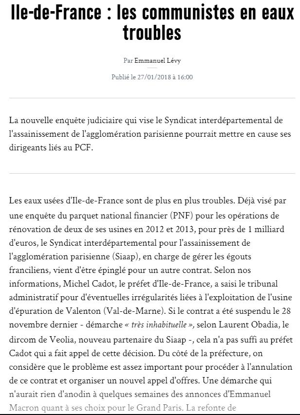 Marianne E Levy 27 janvier 2018 : Ile de France : les communistes en eaux troubles