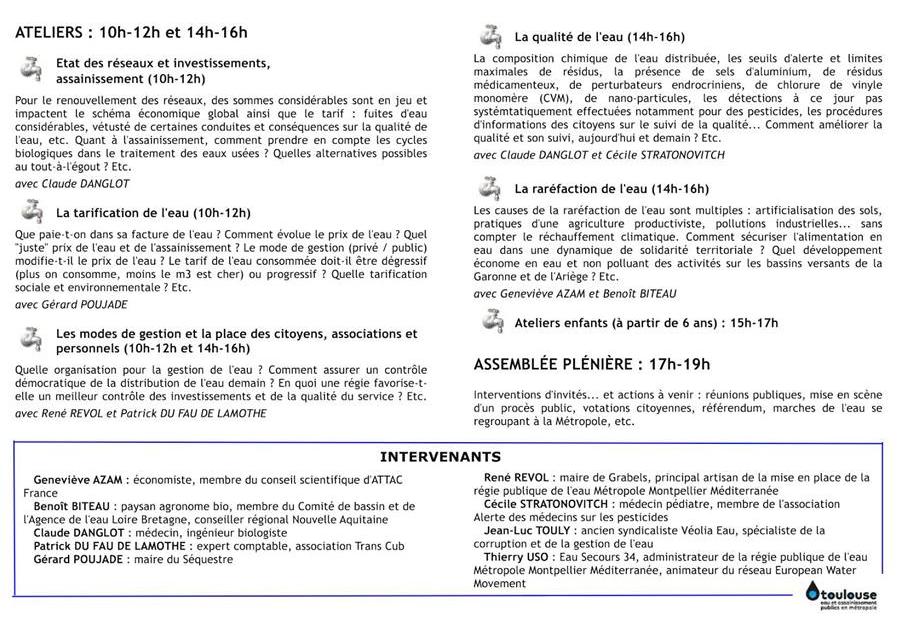 Etats Généraux de l'Eau et de l'Assainissement Toulouse 24 mars 2018