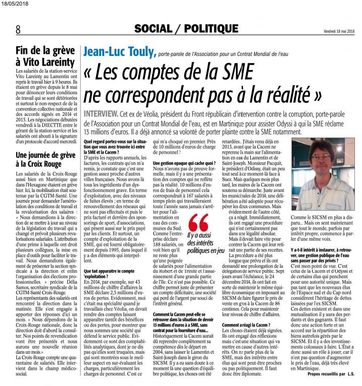 """""""Les comptes de la SME ne correspondent pas à la réalité"""""""