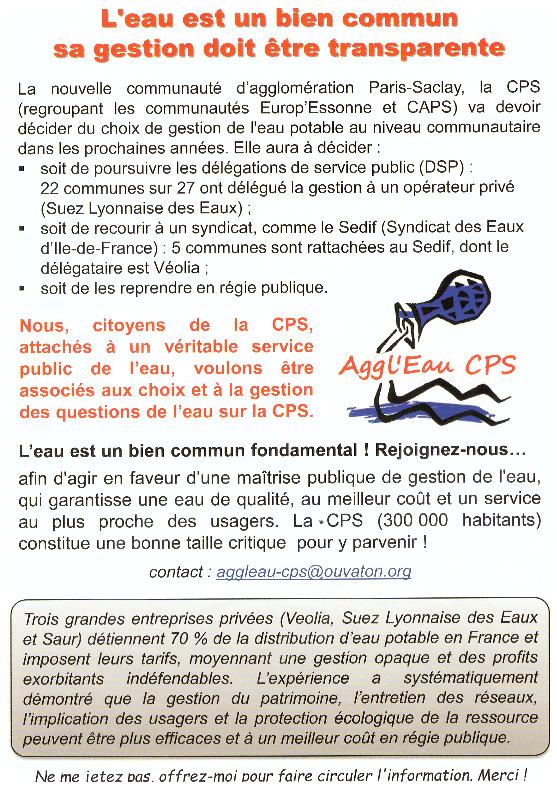 Essonne Info 14 juin : La gestion de l'eau en question à Paris-Saclay