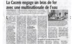 France Antilles 17 mai 2018 Martinique 1ère et ATV : Martinique 1ère : La guerre de l'eau est-elle déclarée en Martinique ?